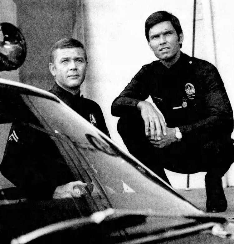 Milner and McCord of Adam-12 vintage TV show
