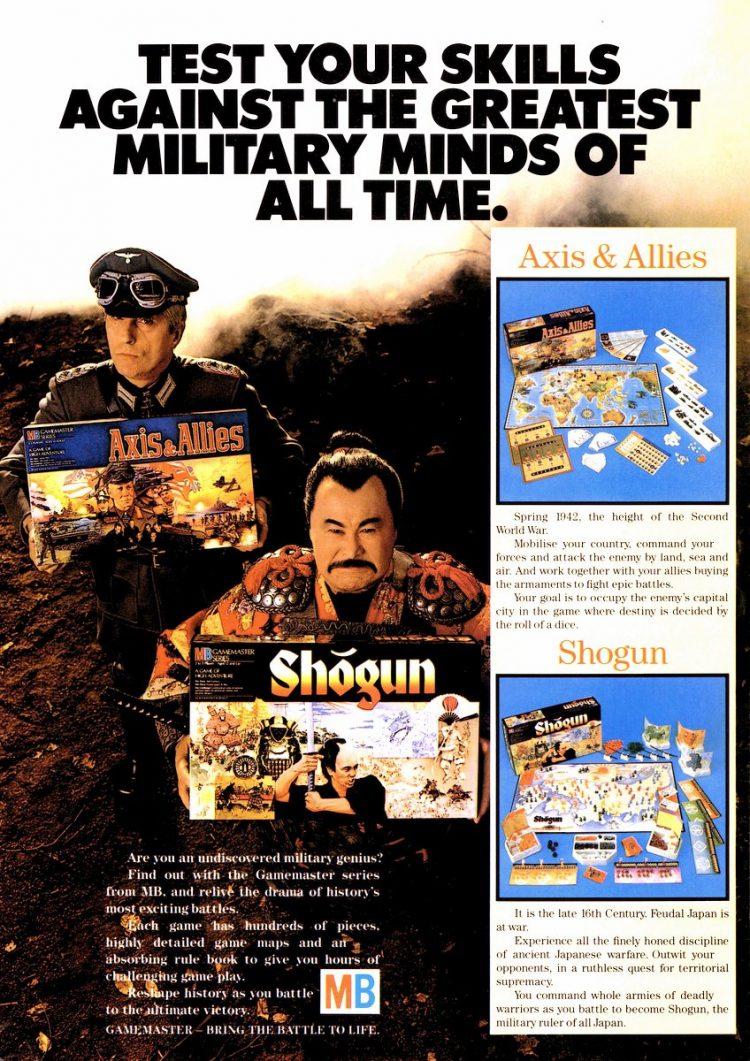 Milton Bradley Gamemaster Games - Axis and Allies Shogun