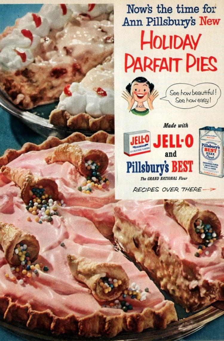 Mince parfait pie & Date nut parfait pie vintage recipes from 1952 (2)