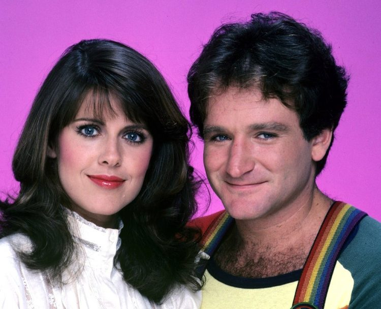Robin Williams and Pam Dawber from Mork and Mindy