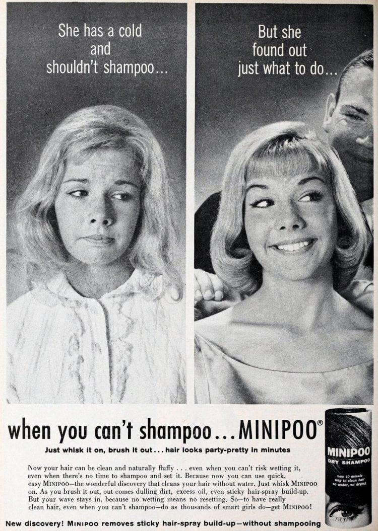 Minipoo shampoo from 1962 - Bad vintage product names at Click Americana