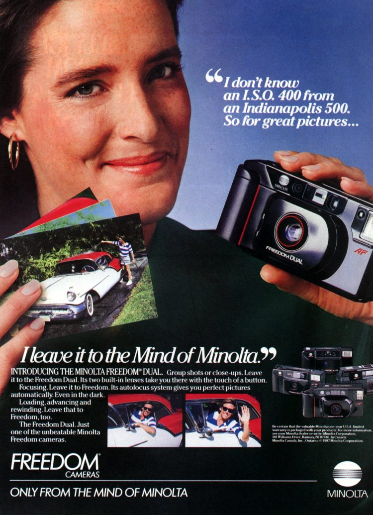 Minolta point and shoot Freedom cameras from 1987