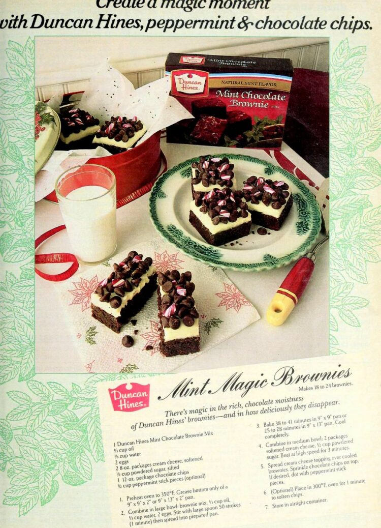 Mint magic brownies recipe