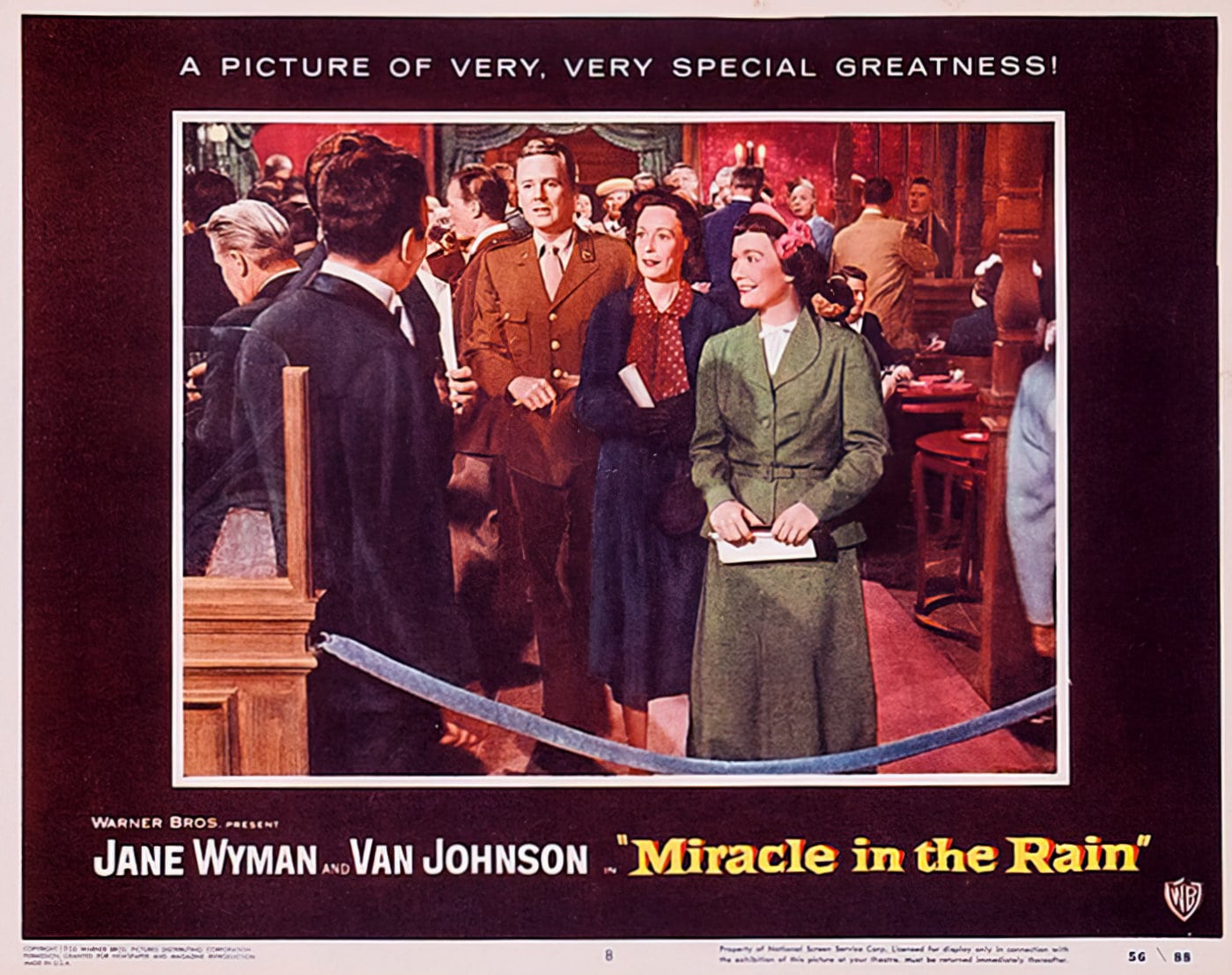 Miracle in the Rain movie lobby posters from 1956 (1)