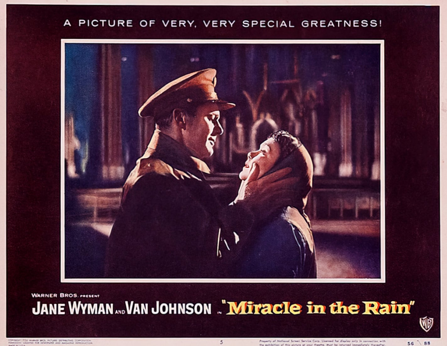 Miracle in the Rain movie lobby posters from 1956 (2)