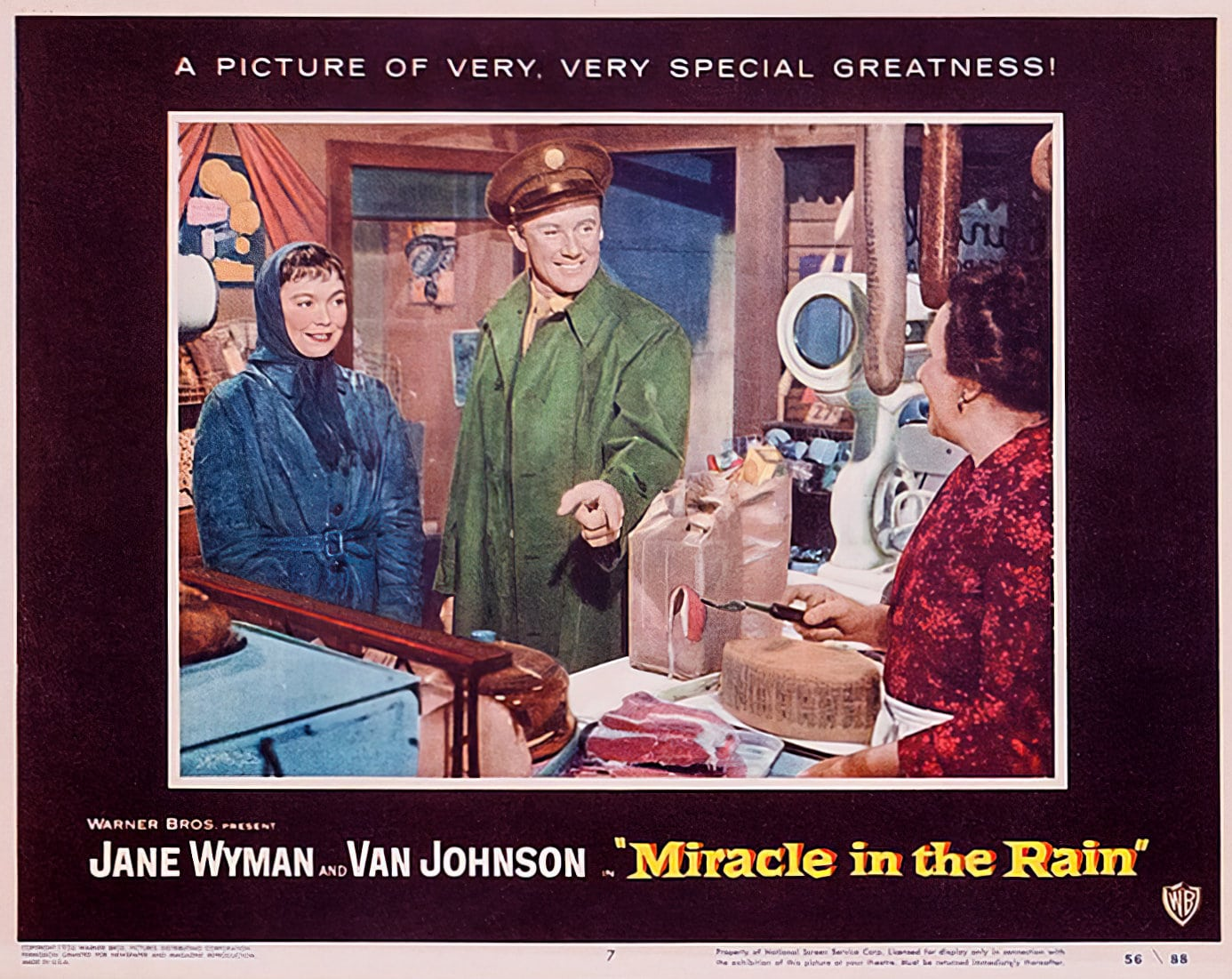 Miracle in the Rain movie lobby posters from 1956 (3)
