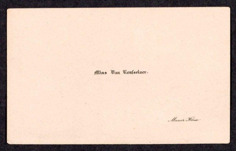 Miss Van Rensselaer calling card - vintage
