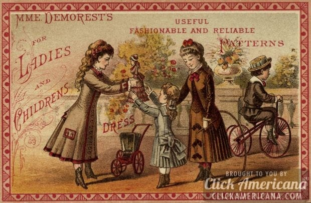 Mme Demorest useful fashionable and reliable patterns for ladies children