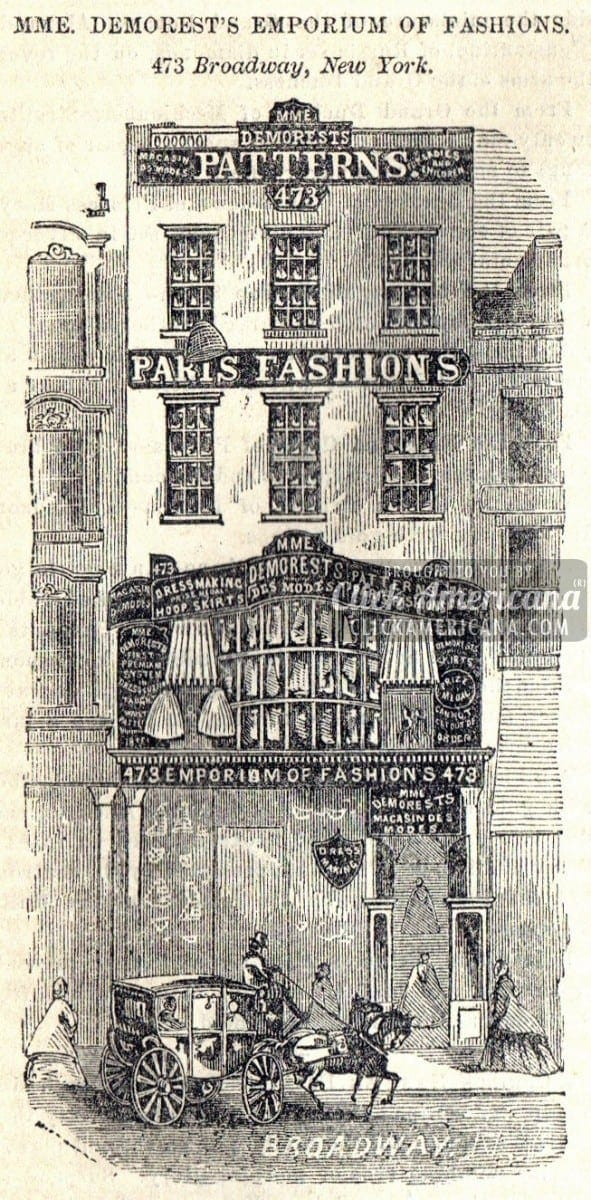 Mme Demorest's Emporium of Fashions 1862