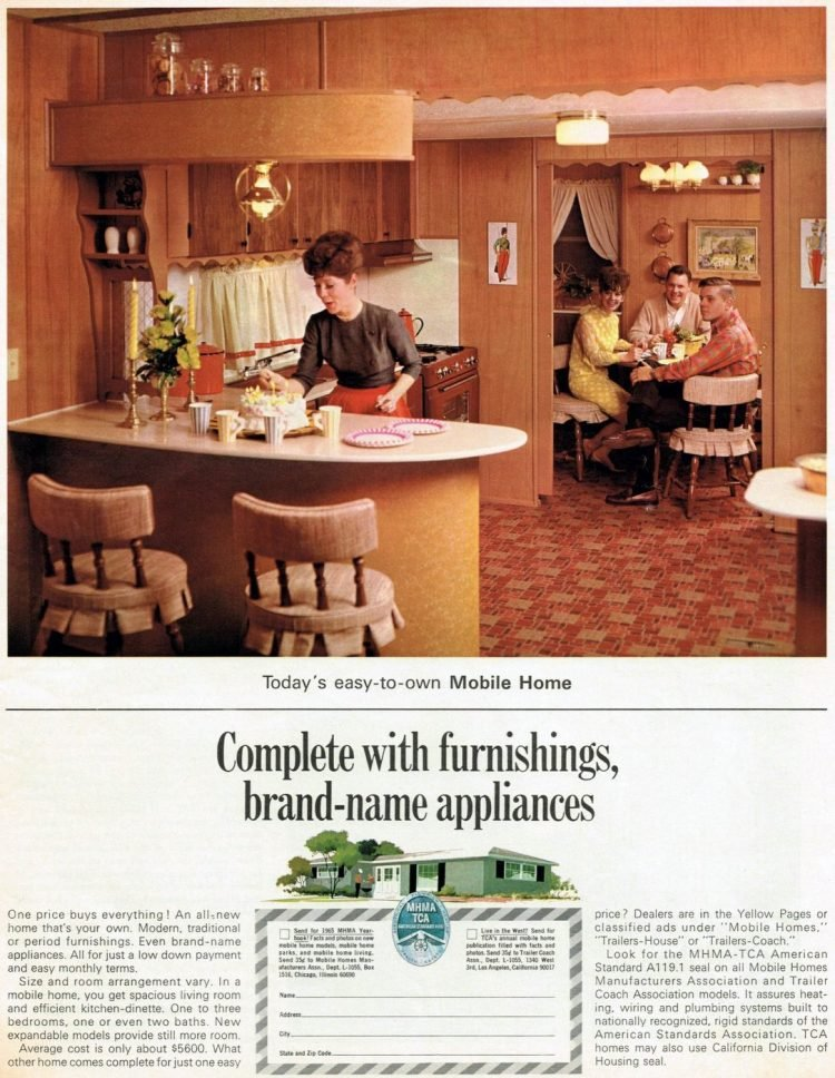 Mobile Home kitchen 1965