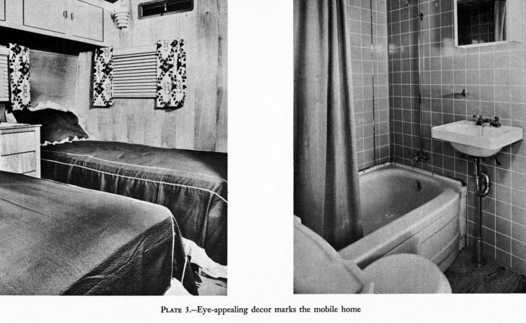 Mobile home features - 1955
