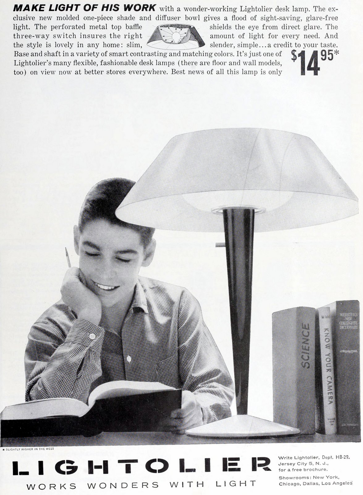 Mod retro Lightolier lamp (1959)