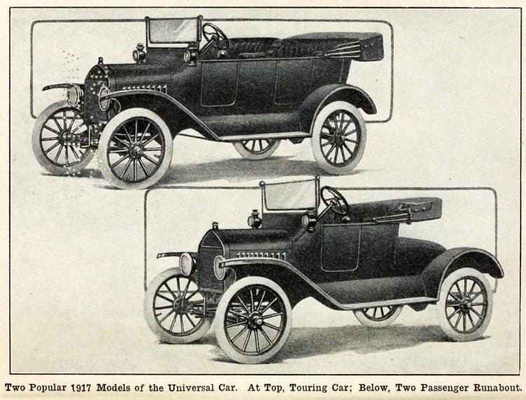 Model T Cars - 1917