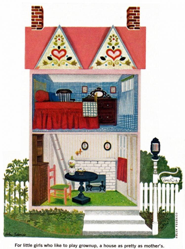 Model kids playhouse dollhouse 1968
