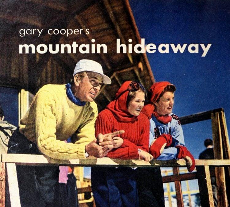 Modern Screen Gary Cooper's mountain hideaway 1949 (1)