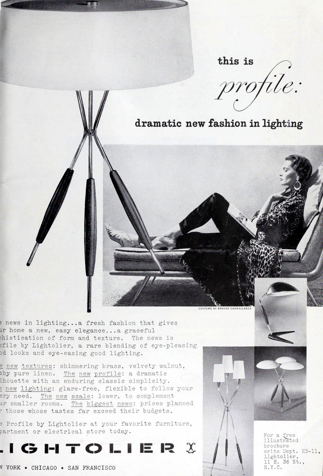 Modern dramatic lighting fashions - Lamp from 1953