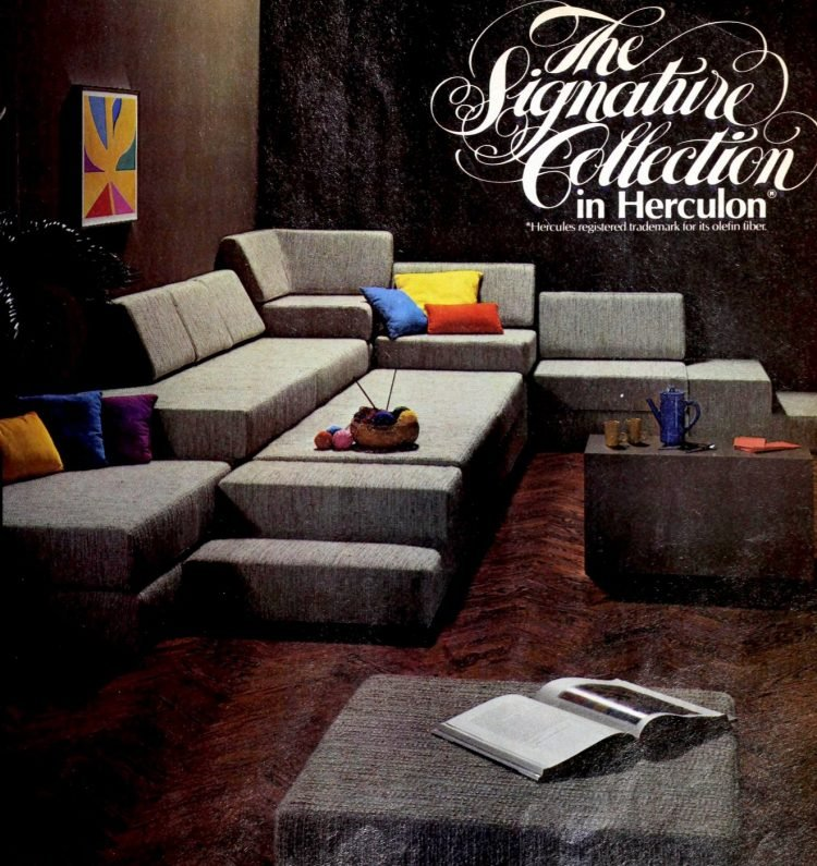 Modular sofas from the 70s
