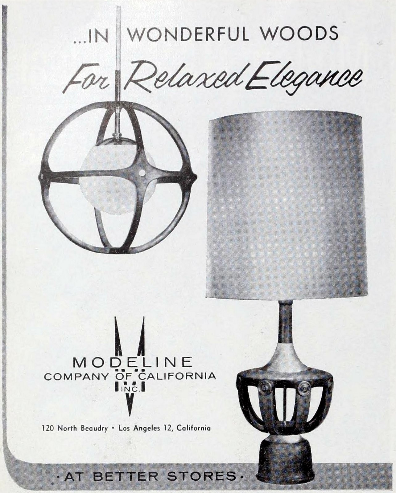 Moeline mod lamps from the sixties (1962)