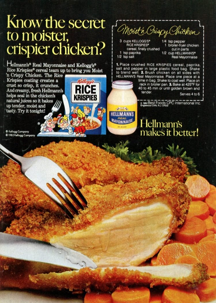 Rice Krispies crunchy chicken - A 1980s retro recipe