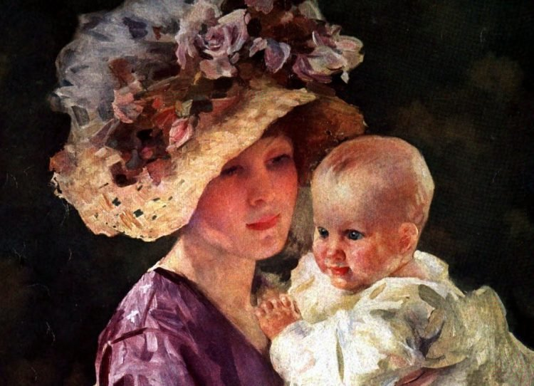 Mom and baby 1912