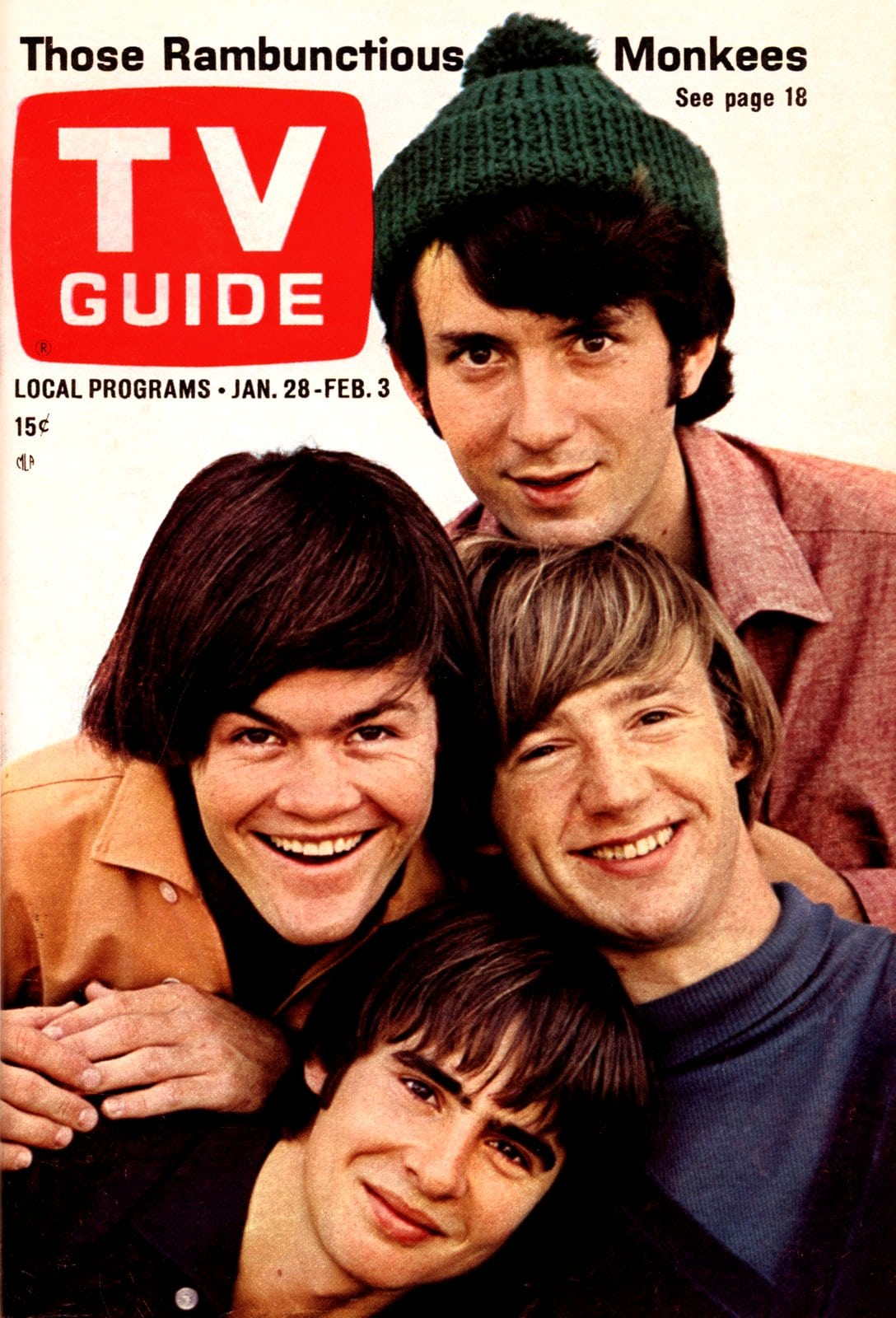 Monkees on the cover of TV Guide (1967)