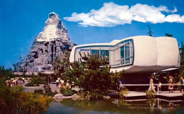 Monsanto's Home of the Future - vintage Disneyland postcard