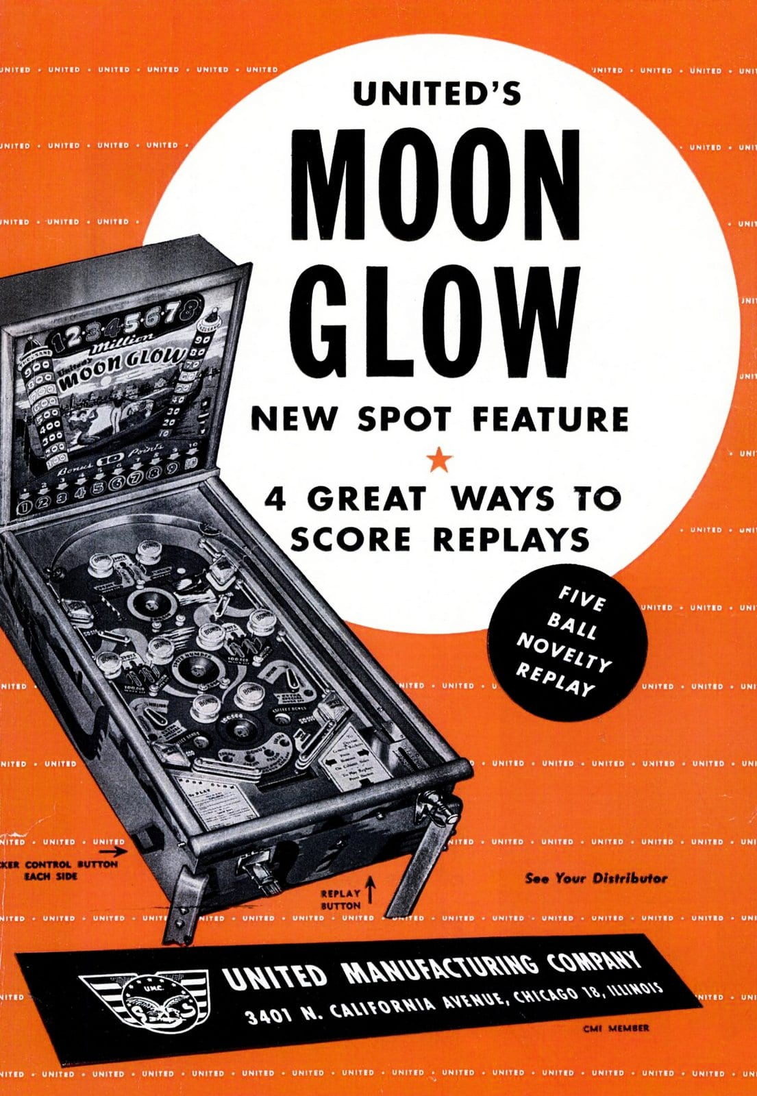 Moon Glow pinball game - Billboard Dec 11, 1948