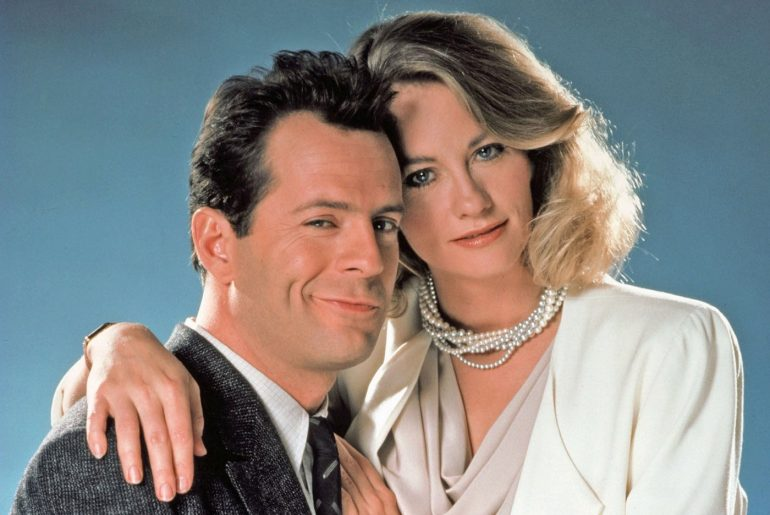 Moonlighting Bruce Willis and Cybill Shepherd TV comedy drama 1980s (2)
