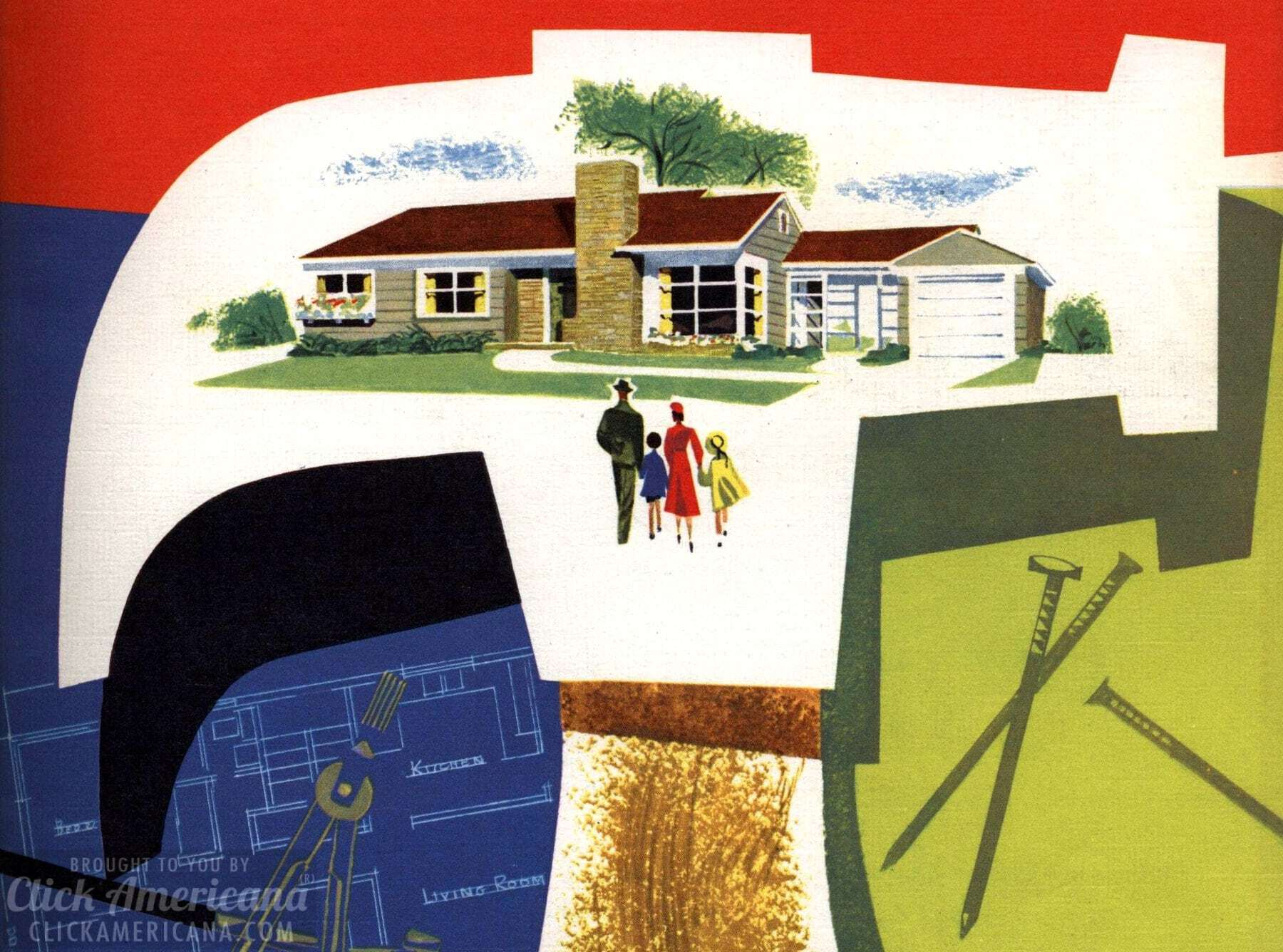 See 130 vintage '50s house plans used to build millions of ... House Plan Family America on new american home plans, america woodworking plans, america photography, america art, america flowers, america shopping, america dogs, american mansion plans, america painting, america small houses, america of america, america windows,