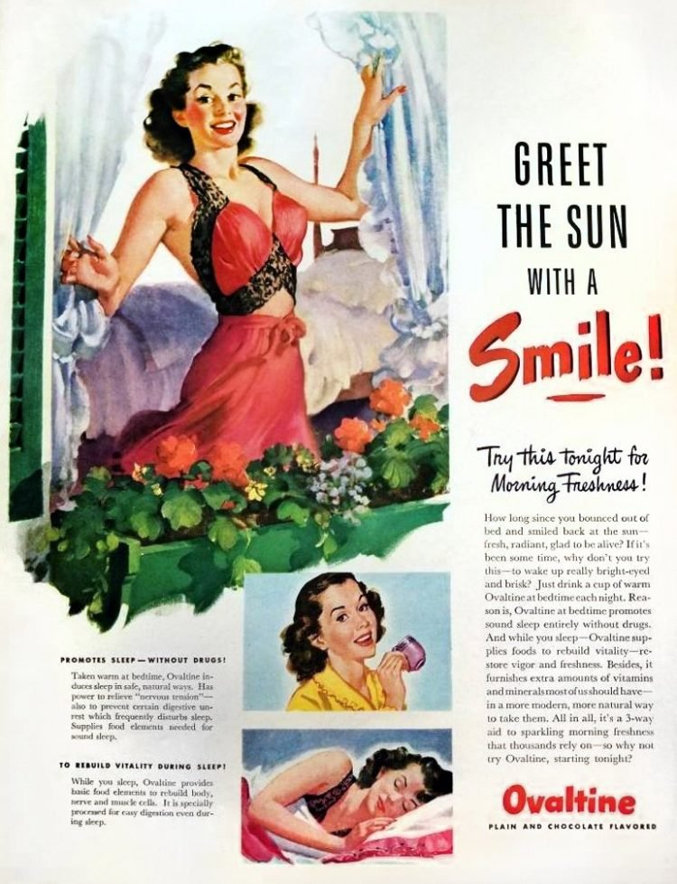 Morning freshness with Ovaltine (1946)