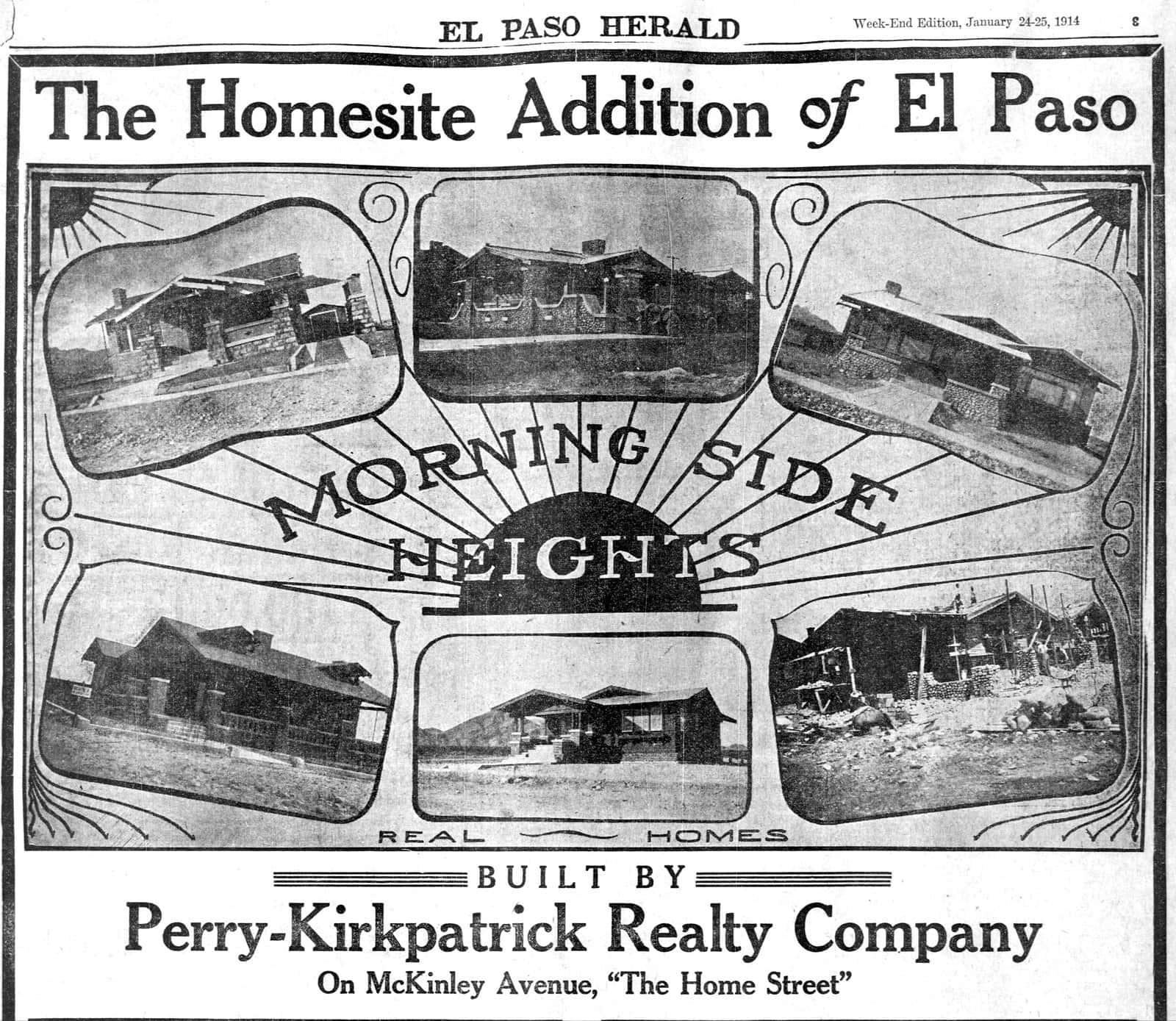 Morningside Heights - El Paso Texas (January 1914)