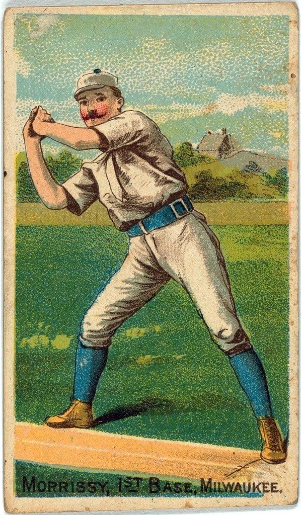 Morrissey, Milwaukee Team, baseball card portrait 1887