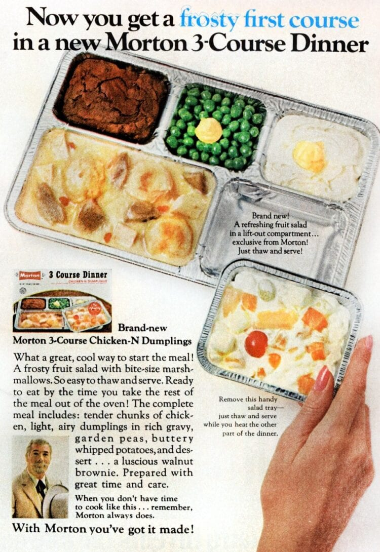 Morton vintage 3-course TV dinner from 1969