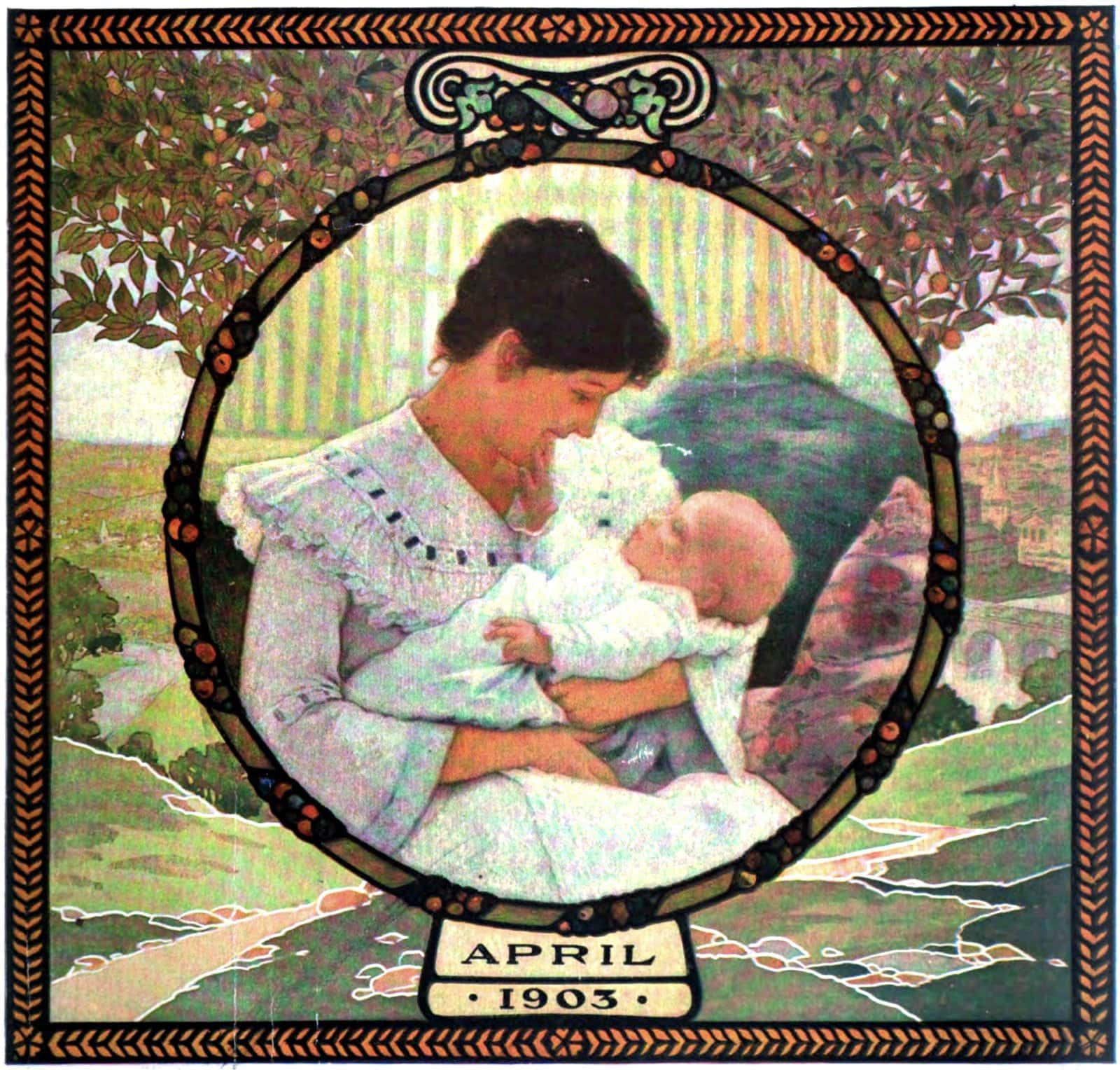 Mother and baby in 1903