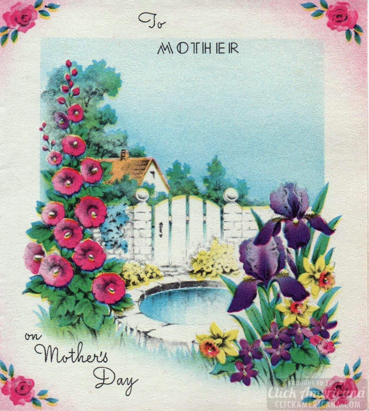 Vintage Mother's Day card (1944)