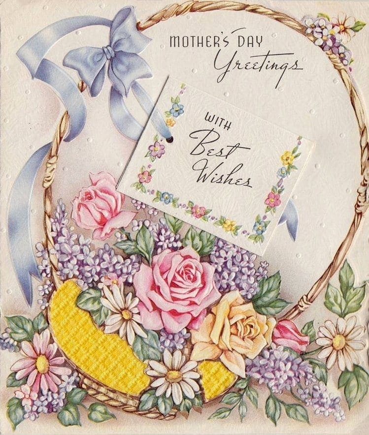vintage Mother's Day cards - greetings with best wishes