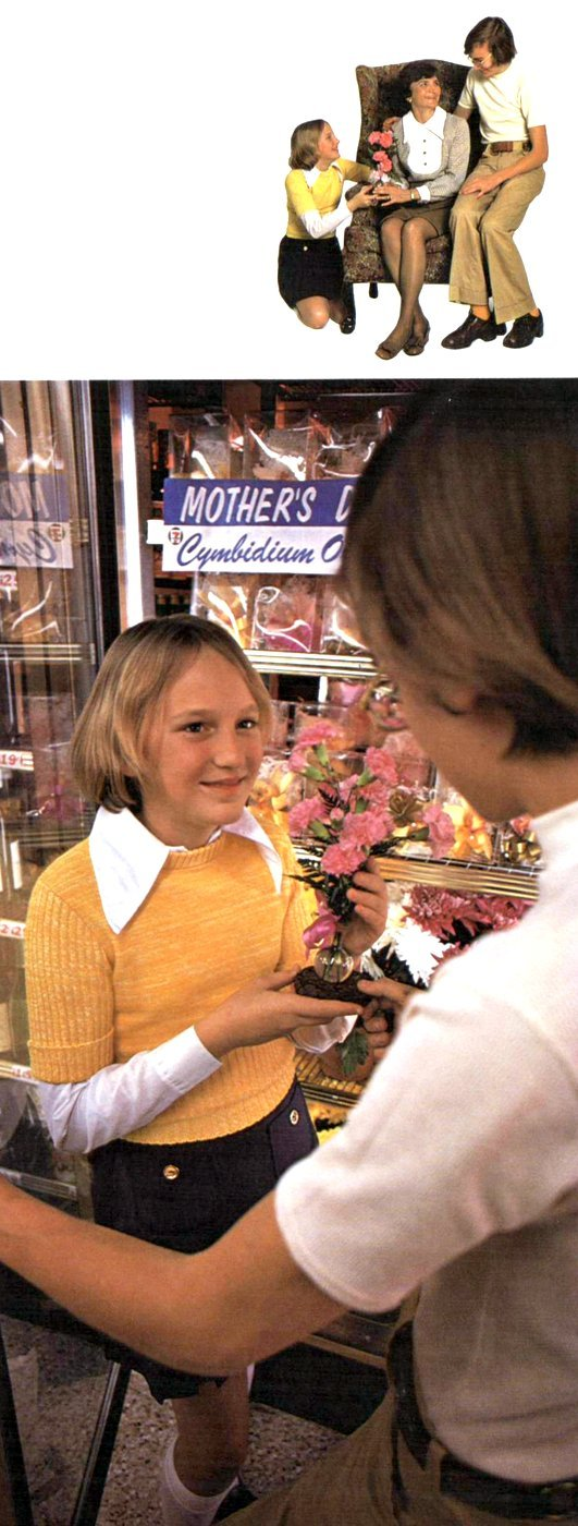 Mother's day flowers and bouquets 1974