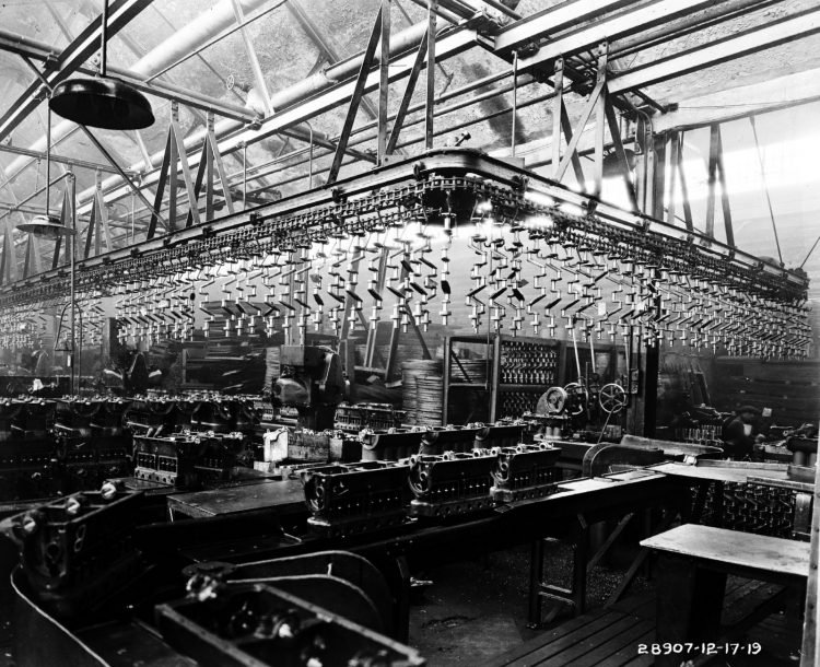 Motor block ready for assembly 1919