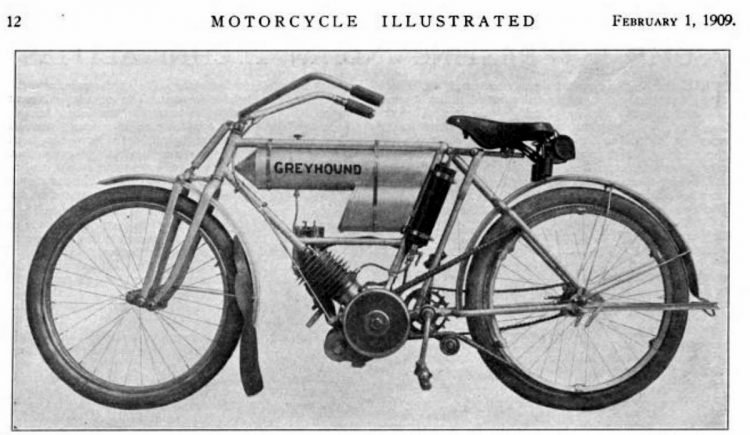 Motorcycle Illustrated 1909 Greyhound