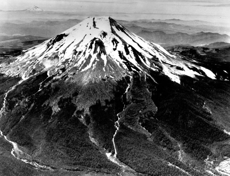 Mount St. Helens prior to the catastrophic eruption of May 18, 1980