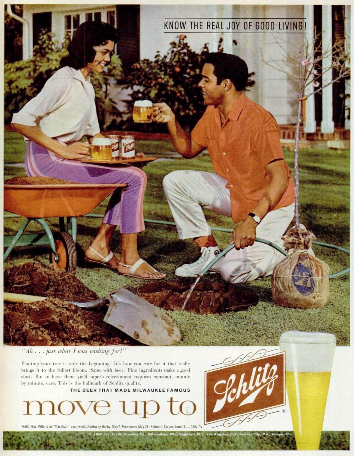 Move up to Schlitz beer (1960)