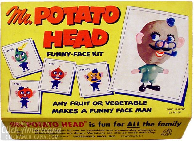 Vintage Mr Potato Head Toys 1952 1953 Click Americana