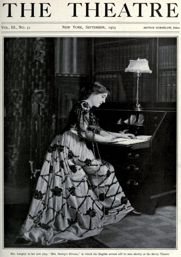 Mrs Lillie Langtry on the cover of The Theatre magazine 1903