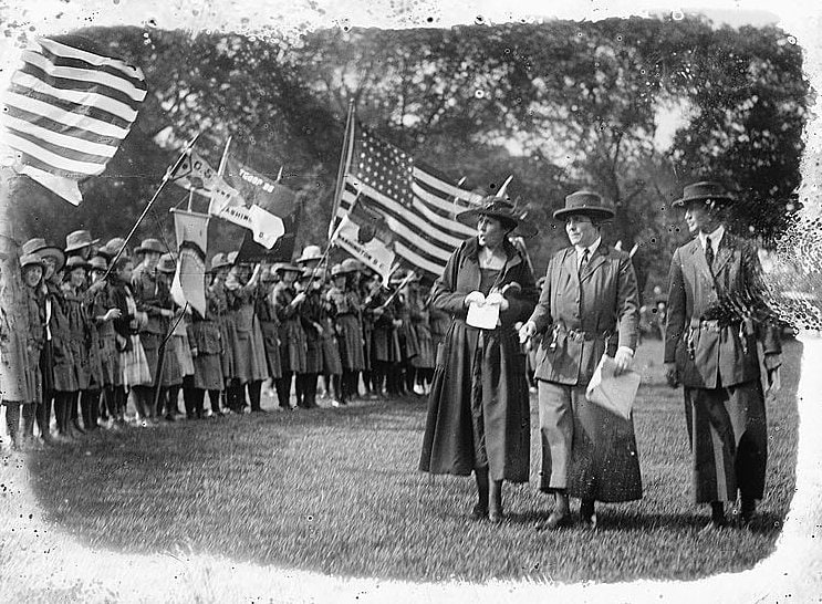 Mrs. Coolidge, Girl Scout review 1921
