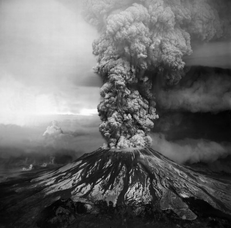 Mt. St. Helens Eruption Column On May, 18 1980