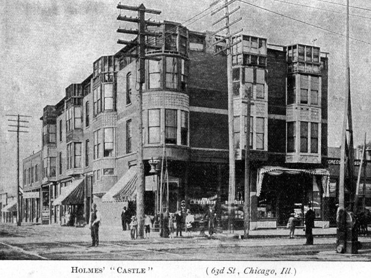Mudgett - H H Holmes photograph of murder castle - 63nd Street in Chicago