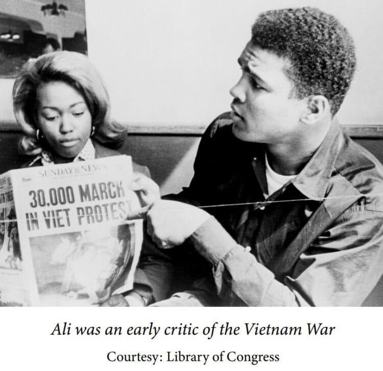 Muhammad Ali - an early critic of the Vietnam War