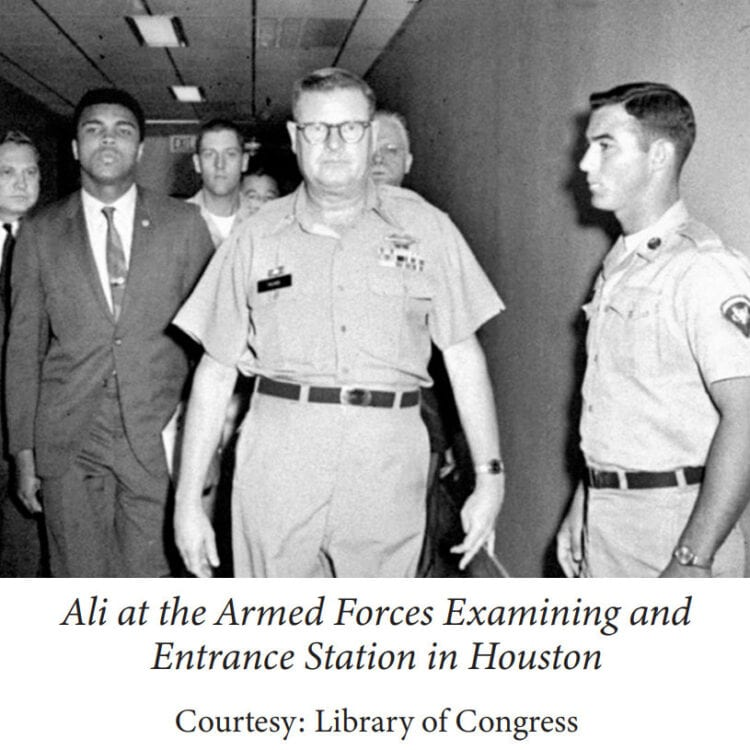 Muhammad Ali at the Armed Forces Examining and Entrance Station in Houston