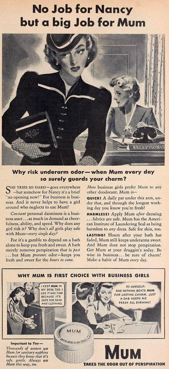 Mum deodorant - 1940s