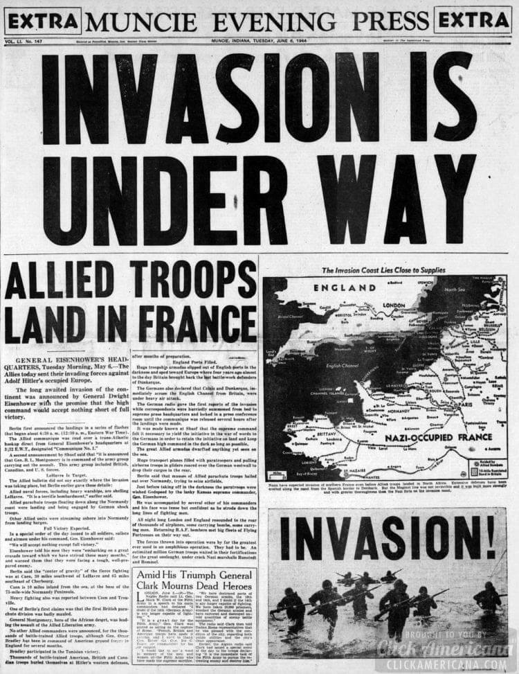 Invasion is Under Way: Allied Troops Land in France